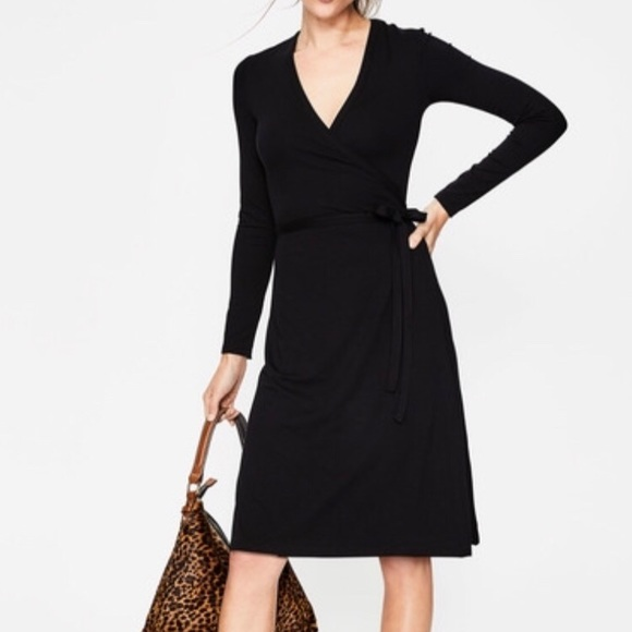 649f6fe6575 Boden Dresses   Skirts - Boden Black Jersey Wrap Dress